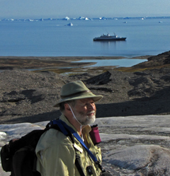 Jim Halfpenny on glacier in Greenland