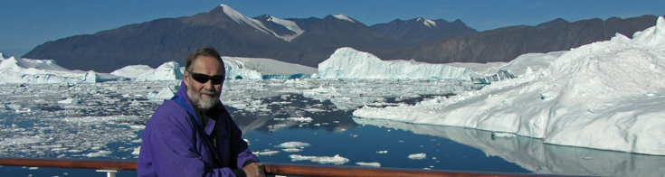 Jim Halfpenny in Karret Fjord, Greenland